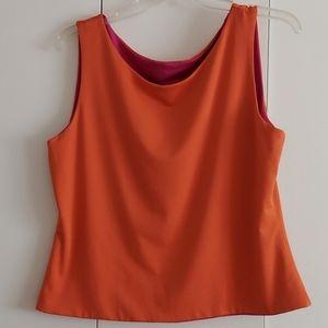 Vintage Colorblocked Reversible Top Pink & Orange